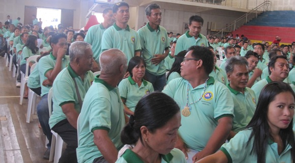 Barangay Sikatuna, standing; Barangay Suba, sitting w/ Capt. Eligido Monte