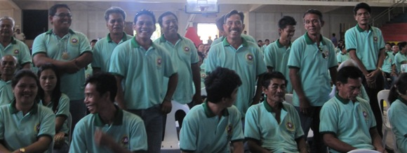 Barangay Suba, standing; Barangay Zamora, sitting w/ Kagawad Pogoy