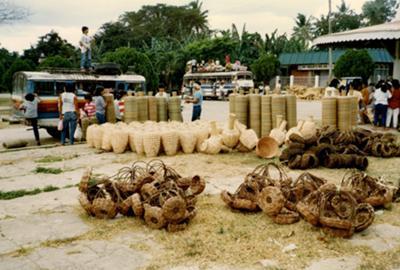 Baskets market, Antequera, Bohol, Philippines