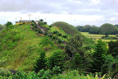 Chocolate Hills located near the Sagbayan Peak close to the  Butterfly Garden
